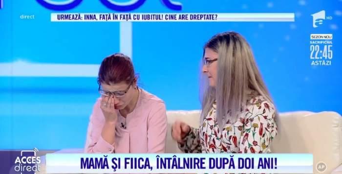 """Acces Direct. Mama din Dâmbovița și fiica ei, întâlnire emoționantă, după 2 ani în care nu s-au văzut: """"Nu mă lasă soțul"""". Reacția șocantă a bărbatului! / VIDEO"""