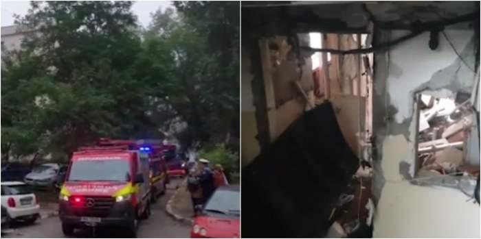 Imagini de la fața locului, din Galați, în urma exploziei