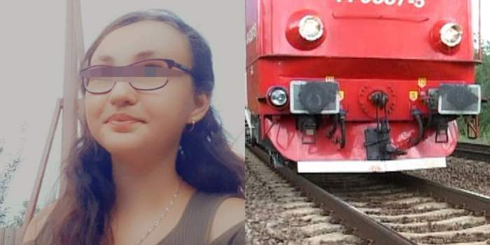Fetița lovită de tren