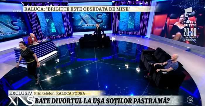 """Brigitte s-a ridicat și a plecat din emisiune, după o confruntare cu Raluca Podea: """"Este sub nivelul meu!"""""""