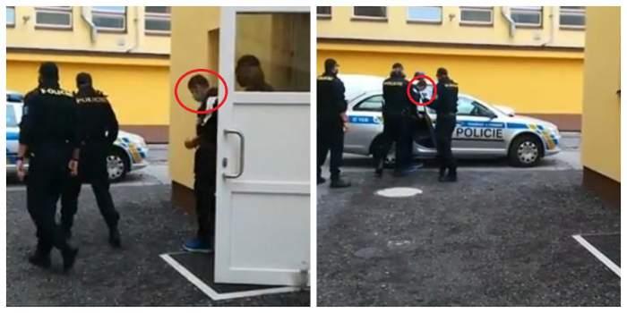 Românul care a omorât un bebeluș în Cehia este luat de polițiști și dus la mașină