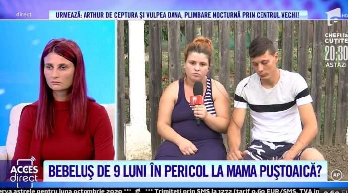 """Bunica disperată își vrea nepotul înapoi! Mihaela o acuză pe fiica ei de iresponsabilitate. """"Îl bate, nu îi dă să mănânce"""" / VIDEO"""