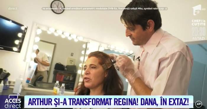 Arthur de la Ceptura a devenit hairstylist pentru Vulpea din Boteni! Dana a fost vopsită ca o regină! / VIDEO