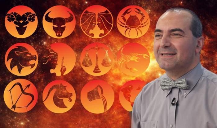 Fotografie cu Resmus Ionescu și semnele zodiacale