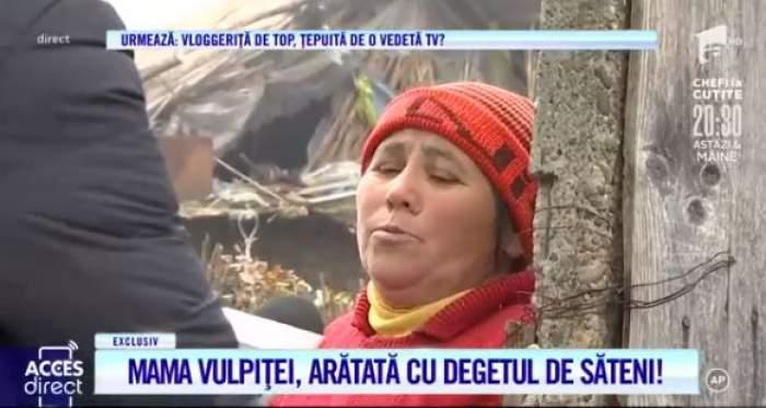 Mama Veronicăi, surprinsă în timpul unui interviu pentru Acces Direct