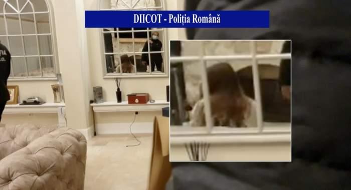 Daria, iubita lui Alex Bodi, în casa sa, surprinsă de cei de la DIICOT