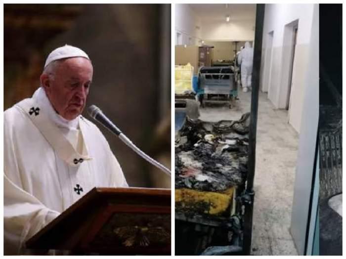 Papa Francisc s-a rugat pentru victimele incendiului de la Piatra Neamț. Ce mesaj a transmis liderul religios