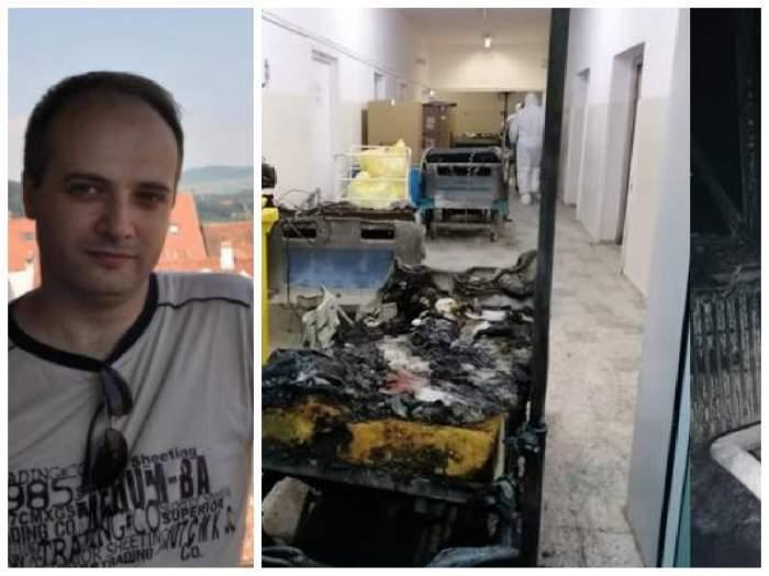 Colaj foto cu medicul Cătălin Denciu și dezastrul din spital