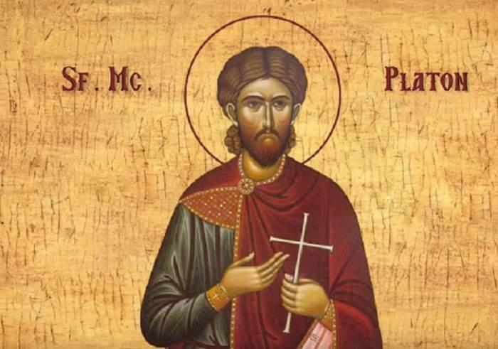O icoană cu Sfântul Platon.
