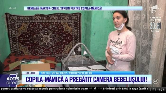 """Maria, mama de 18 ani, i-a pregătit camera bebelușului ei! Adolescenta își așteaptă băiețelul acasă: """"Vreau să recuperăm tot ce am pierdut amândoi"""" / VIDEO"""