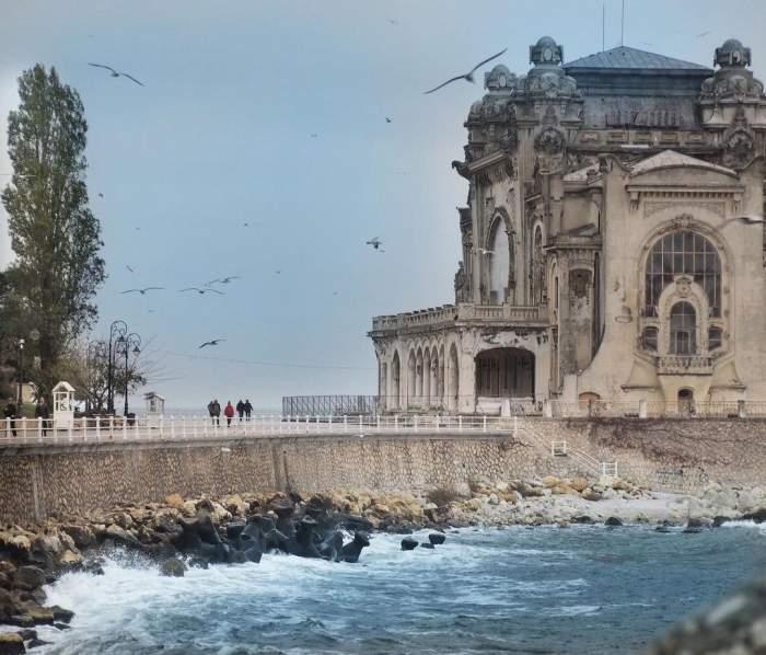 Fotografie de la malul mării, din Constanța