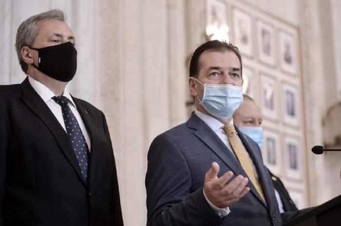 Ludovic Orban și Marcel Vela cu mască.