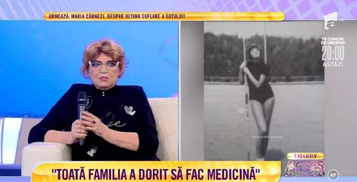 """Cezara Dafinescu a fost curtată de Ilie Năstase? Actrița, mărturisiri surprinzătoare din tinerețe: """"Ne-am cunoscut în lotul țării"""" / VIDEO"""