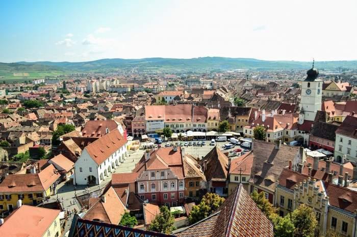 Imagine cu orasul Sibiu