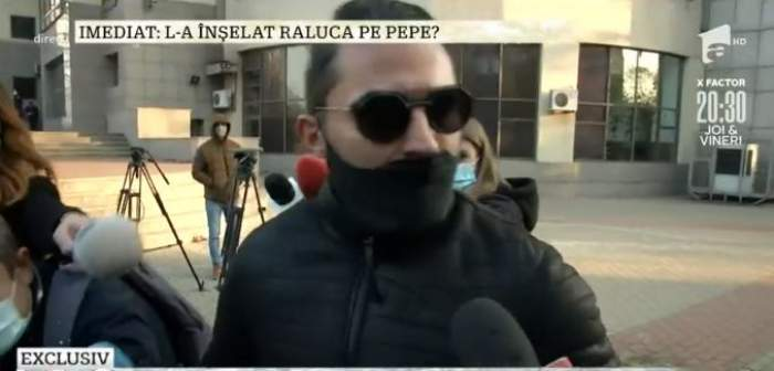 Pepe, surprins la ieșirea din tribunal