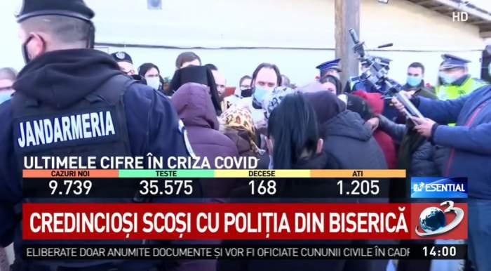 Poliția evacuează credincioșii din biserica Sf. Ecaterina din Constanța