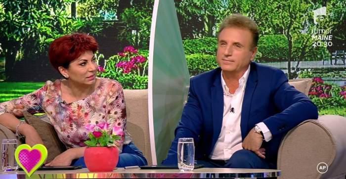 Constantin Enceanu și soția lui, în cadrul unei emisiuni de televiziune