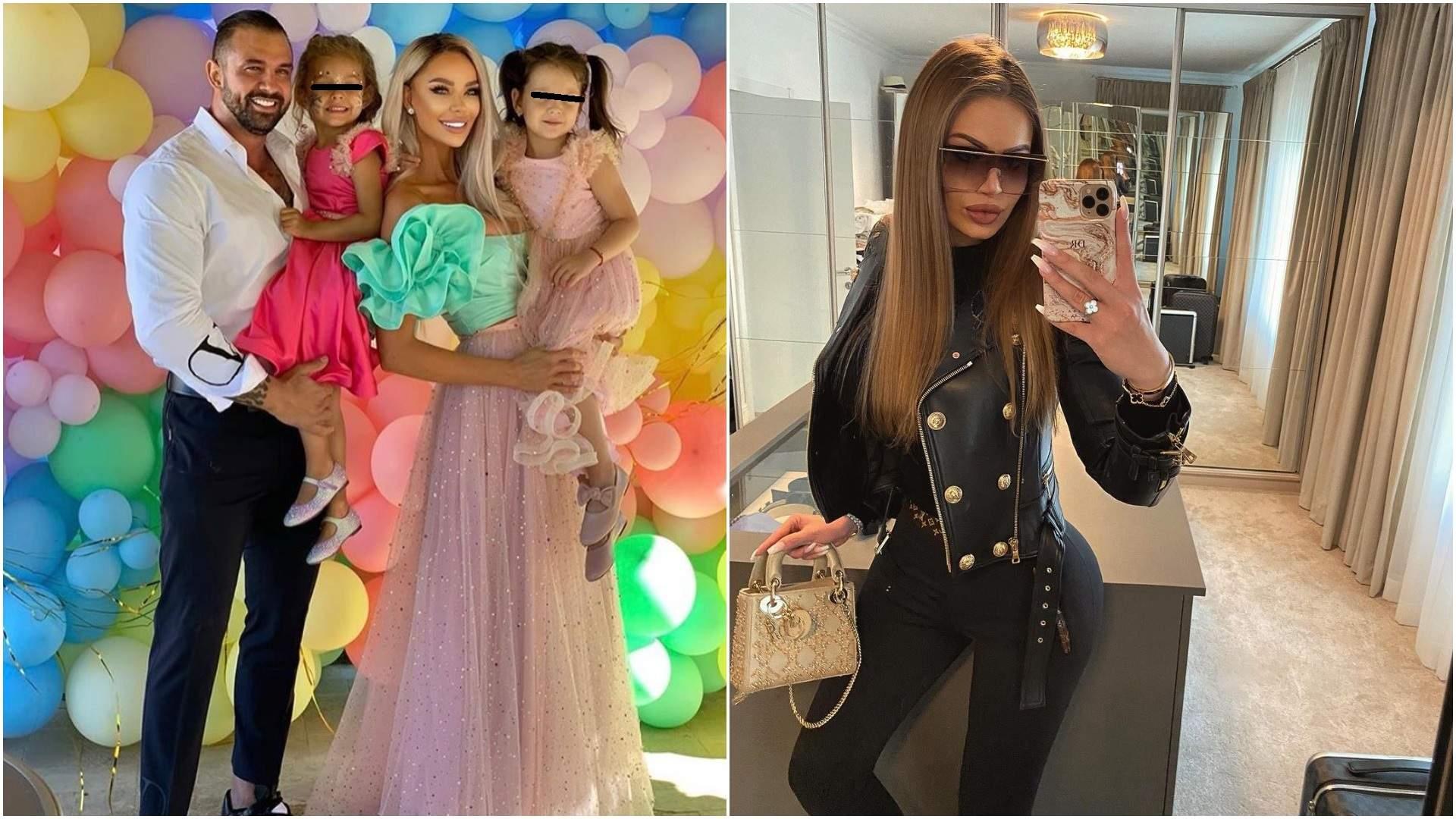 Colaj cu Bianca, Bodi și fiicele lor și Daria, selfie în oglindă.