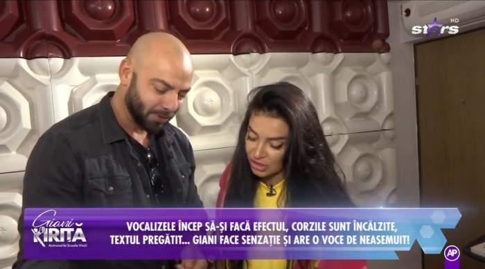 Giani Kiriță și Elena Ionescu, repetând versurile piesei pe care o vor cânta împreună