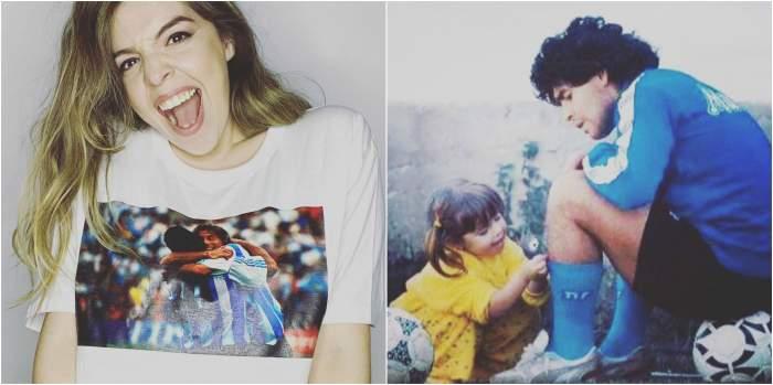 Colaj foto cu Dalma și Diego Maradona