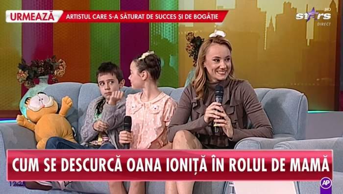 Oana Ioniță alături de copii la Antena Stars