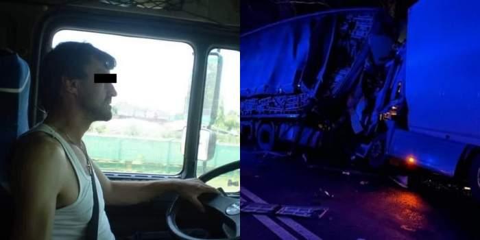Șoferul mort în accident, imagini de la incident