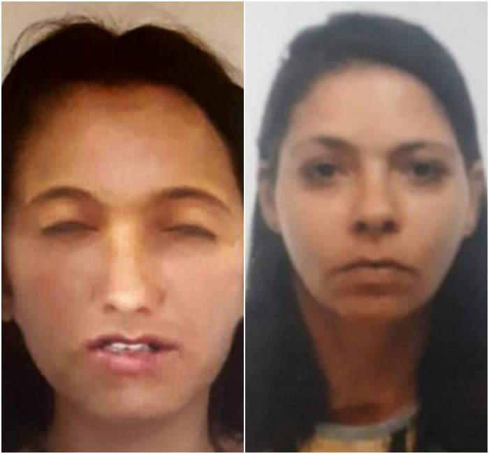 Colaj foto cu fata dispăruta din București și portretul femeii ucise în Giurgiu