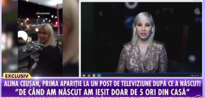 """Captură foto cu Alina Cueșan, invitată online în platoul emisiunii """"Showbiz Report"""""""
