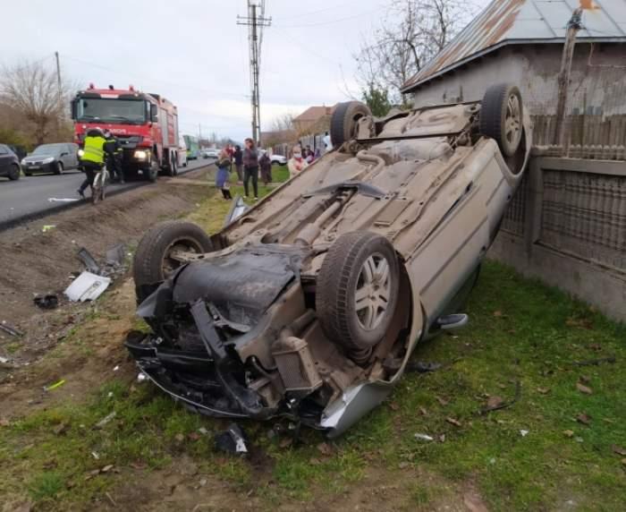 Accident teribil în județul Olt! O femeie a murit și alte două persoane au fost grav rănite