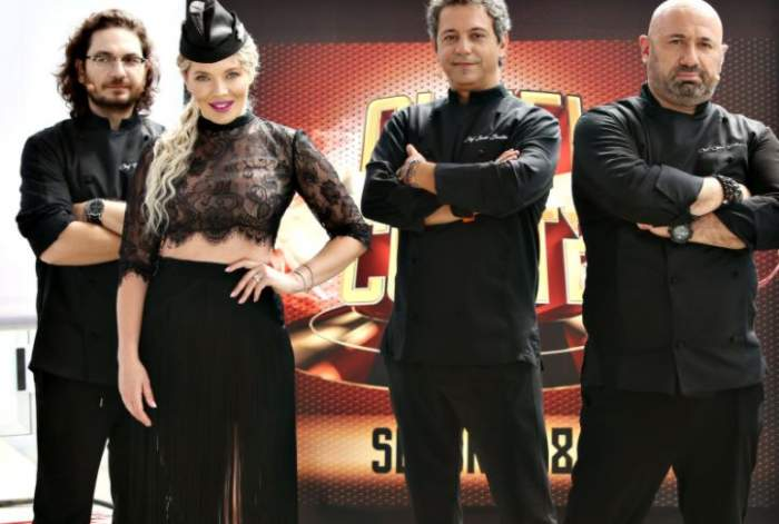 Gina Pistol și cei trei chefi s-au fotografiat, to ți în negru, în platoul emisiunii de la Antena 1