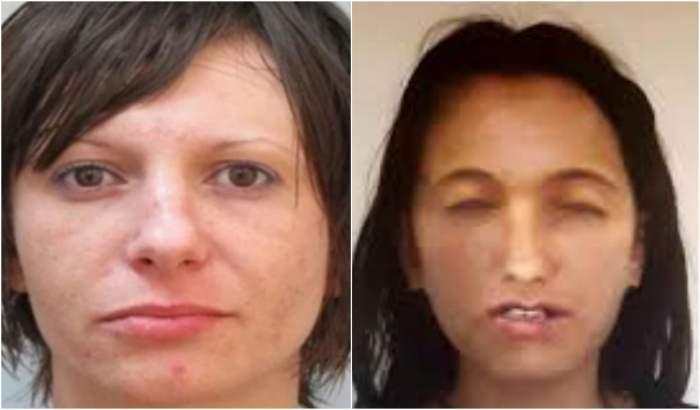 Colaj foto cu tânăr ucisă ăîn Bulgaria și portretul robot al fetei ucise în Ghimpați