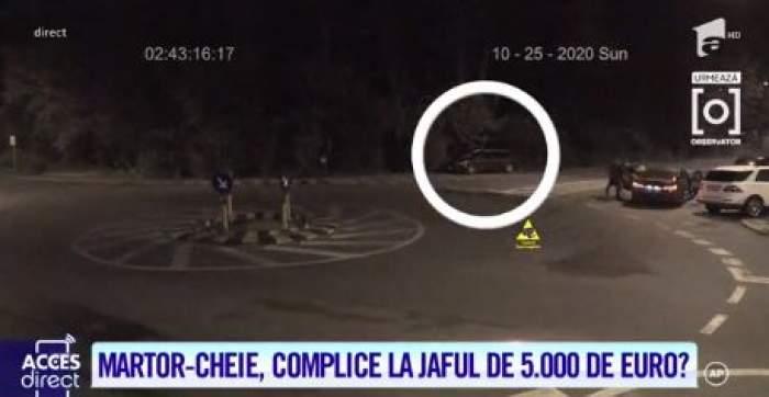 Mașina martorului cheie parcată în locul unde trei dintre tineri au fost văzuți