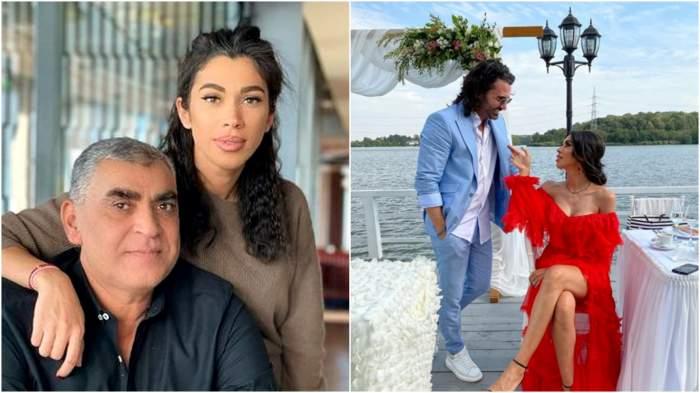 Colaj cu Raluca Pastramă și tatal ei/ Raluca și Pepe pe vremea în care formau un cuplu.