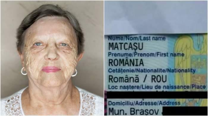 Colaj cu România Matcașu/ buletinul României Matcasu.