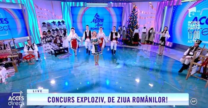 "Mirela Viada, interpretând melodia ""Eu sunt fată de Moldova"""