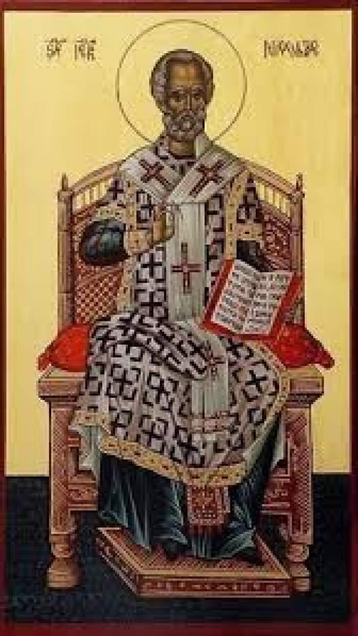 Icoană cu Sf Nicolae
