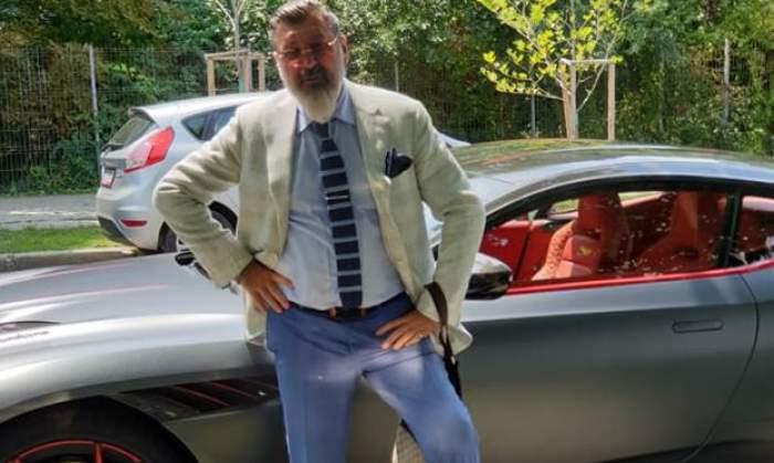Dan Nicorescu, lângă una dintre mașinile lui de lux