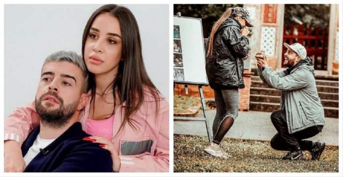 Un colaj cu Speak și Ștefania. În prima poză, Ștefania îl cuprinde în brațe pe Speak, iar în a doua artistul o cerea în căsătorie, la Asia Express.