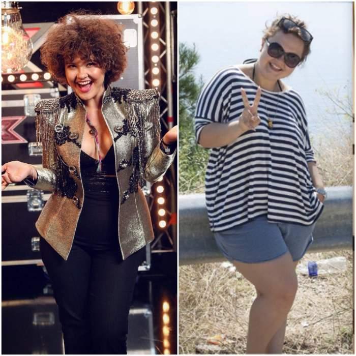 Colaj cu Alina Dincă înainte și după ce a slăbit.