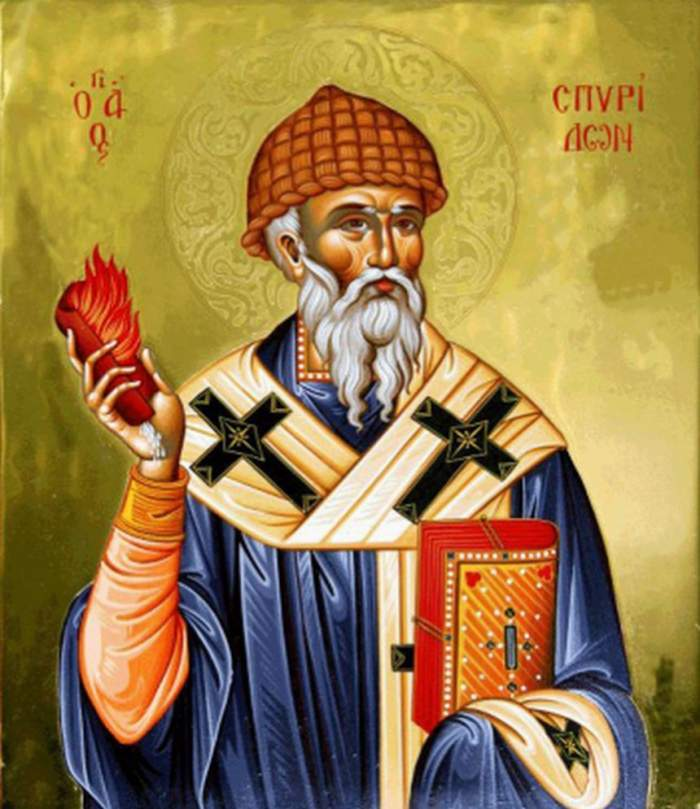 Icoană cu Sfântul Spiridon.
