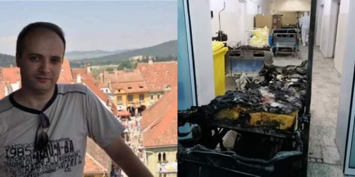 Cătălin Denciu colaj imagini spitalul piatra neamt incendiu