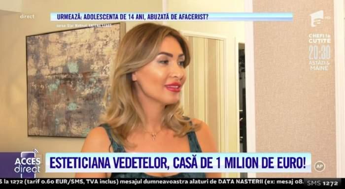 Acces Direct. Esteticiana vedetelor, casă de lux, de 1 milion de euro! Blondina se scaldă în băi regale, cu aur și pietre prețioase! / VIDEO