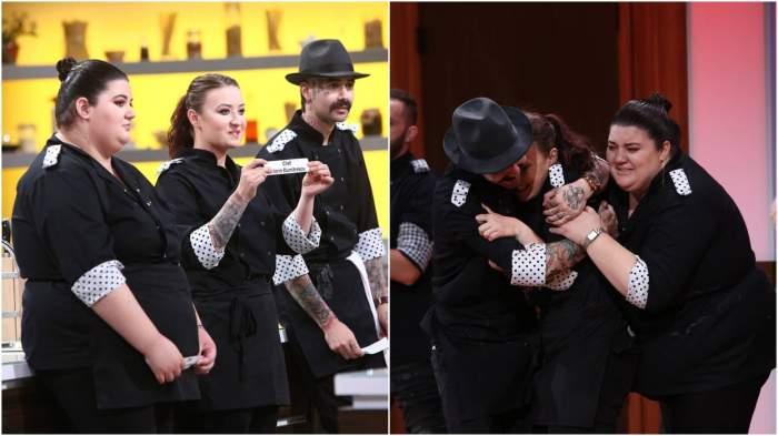 "Colaj cu Claudia Radu, Kanni și Roxana Blenche în semifinala ""Chefi la cuțite""."