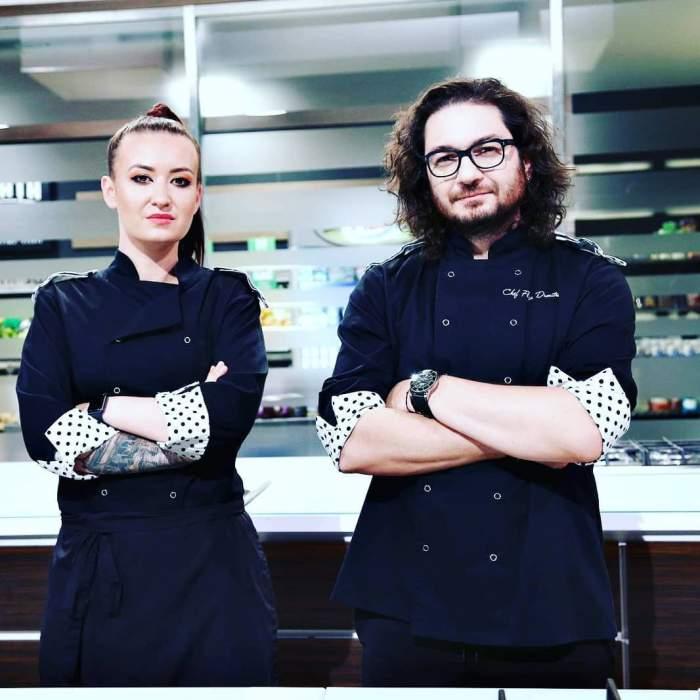 Florin Dumitrescu și Roxana Blenche s-au fotografiat împreună în bucătăria de la Chefi la cuțite