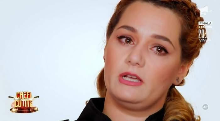 Maria Șandru se află la Chefi la Cuțite. Concurenta plânge și dă un interviu.