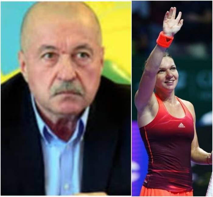 Colaj foto cu Corneliu Idu și Simona Halep, salutând mulțimea
