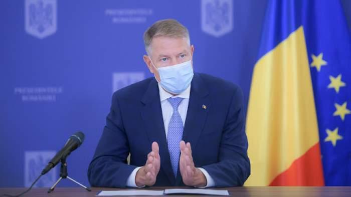 Klaus Iohannis cu masca