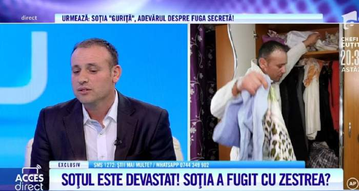 """Acces Direct. Claudiu a fost lăsat de parteneră la 4 luni de la cununie! Soțul """"Guriță"""" nu mai are liniște de când femeia ar fi plecat cu zestrea și copilul! / VIDEO"""