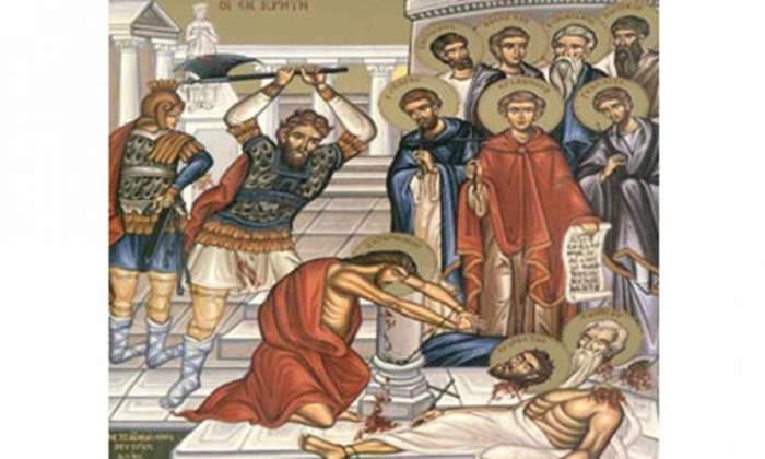 Icoană cu Sfinții Teodul, Satornin, Evpor, Ghelasie, Evnichian, Zotic, Agatopus, Vasilide Evarest si Pompie.