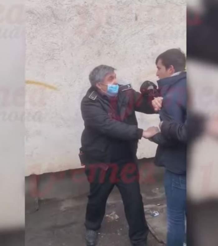 Scandal monstru la o piață din Vaslui! Doi polițiști au fost bătuți, după ce un tânăr a refuzat să poarte mască / VIDEO